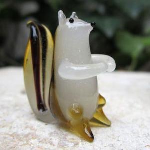 座りシマリス ガラス細工 雑貨 置物|enoshimahook