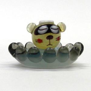 温泉タヌキ ガラス細工 雑貨 置物|enoshimahook