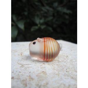 オレンジブタ ガラス細工 雑貨 置物|enoshimahook