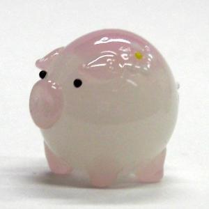 花ぶた ピンク L ガラス細工 雑貨 置物|enoshimahook