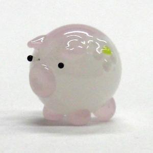 花ぶた ピンク S ガラス細工 雑貨 置物|enoshimahook