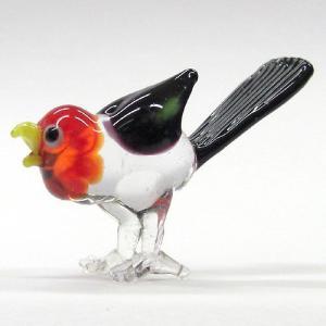 カッコウ 鳥 ガラス細工 雑貨 置物|enoshimahook