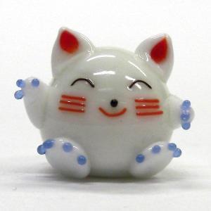 福招き猫 L ガラス細工 雑貨 置物|enoshimahook