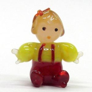 お座りベイビー 世界の子どもたち ガラス細工 雑貨 置物|enoshimahook