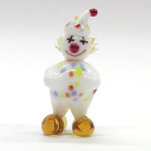 赤鼻の水玉ピエロ ガラス細工 雑貨 置物|enoshimahook