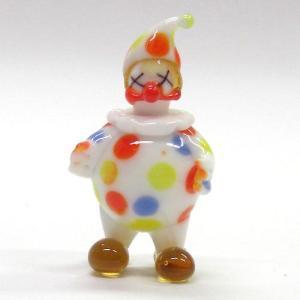 茶鼻の水玉ピエロ ガラス細工 雑貨 置物|enoshimahook