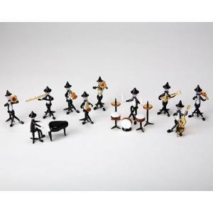ケンタジュニア・ジャズバンド10Pセット ガラス細工 雑貨 置物|enoshimahook
