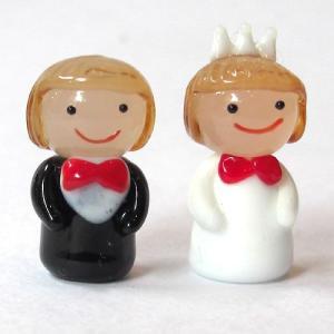 子どもカップル 結婚祝い ガラス細工 雑貨 置物|enoshimahook