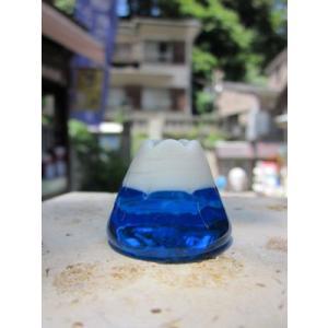 富士山 お香立て ガラス細工 雑貨 置物|enoshimahook