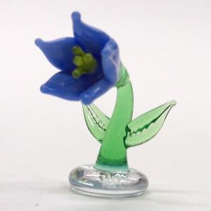 キキョウ 花 ガラス細工 雑貨 置物|enoshimahook