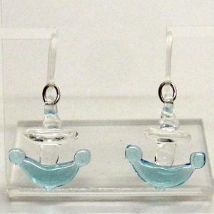 錨(いかり) ガラス細工 雑貨 ピアス|enoshimahook