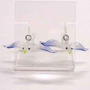 かもめ カモメ ガラス細工 雑貨 ピアス|enoshimahook