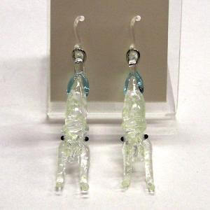 いか イカ 蓄光タイプ ガラス細工 雑貨 ピアス|enoshimahook