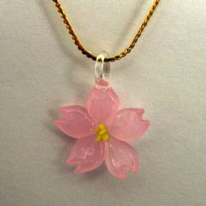 サクラ(桜) さくら 選べる樹脂ピアス ガラス細工 雑貨 ピアス|enoshimahook