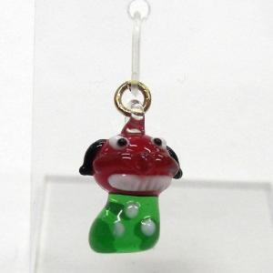 お正月のピアス 獅子舞 ガラス細工 雑貨 アクセサリー|enoshimahook
