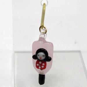 お正月のピアス 羽子板 女の子 ガラス細工 雑貨 アクセサリー|enoshimahook