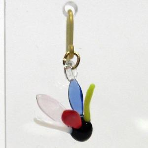 お正月のピアス 羽根 ガラス細工 雑貨 アクセサリー|enoshimahook
