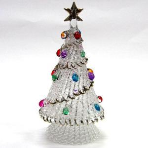 クリスマススパンツリー 16.0cm クリスマス ガラス細工 雑貨 置物|enoshimahook