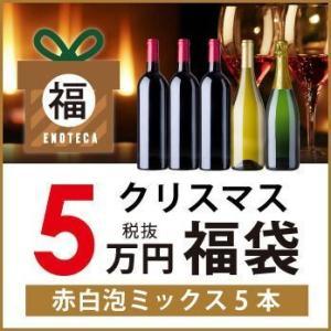 ワイン ワインセット 期間限定 クリスマス福袋50,000円(赤白泡ミックス5本)KF11-3 [7...