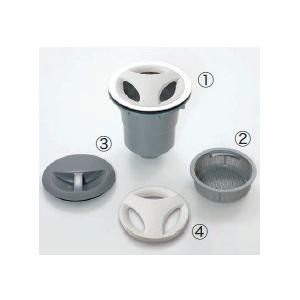 大型排水トラップセット:  (1)L188mm本体(上部φ180、下部φ59.6)+(2)プラスチッ...