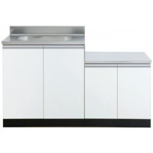 ガス台付流し台KW-1350SG 色:ホワイト ■サイズ W1350(750+600)mm × D5...