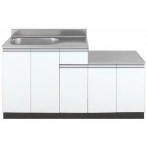 色:ホワイト ■間口1500mm ■サイズ W1500(900+600)mm × D550mm × ...