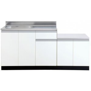 色:ホワイト 間口1650mm ■サイズ W1650(1050+600)mm × D550mm × ...