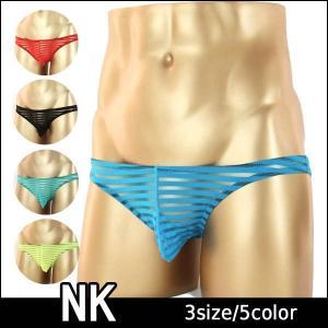 NK シースルーボーダー メンズ ハーフバックビキニ 5色 ...