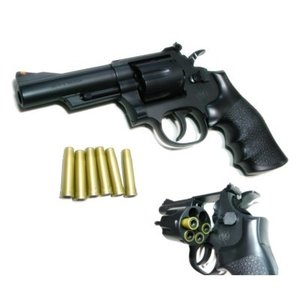 S&W-M19 4in .357 コンバットマグナム HOP UP エアガン (18歳以上) クラウンモデル