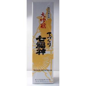 【送料無料・カンガルー便限定】 岩手の地酒「七福神 てづくり大吟醸」1.8l 6本セット|ensyuya