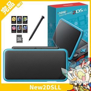 New2DSLL Newニンテンドー2DS LL ブラック×ターコイズ 本体 完品 Nintendo 任天堂 ニンテンドー 中古 送料無料|entameoukoku