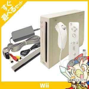 Wii ウィー 本体 シロ 白 ニンテンドー 任天堂 Nintendo 中古 すぐ遊べるセット 送料無料|entameoukoku