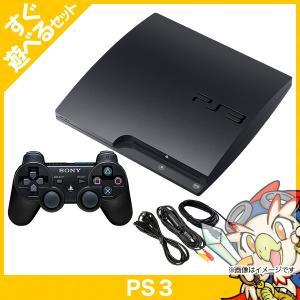 PS3 (320GB) チャコール・ブラック (CECH-3000B) 中古 すぐ遊べるセット entameoukoku