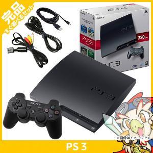 PS3 プレステ3 本体 中古 付属品完備 320GB CECH-3000B チャコール・ブラック ...