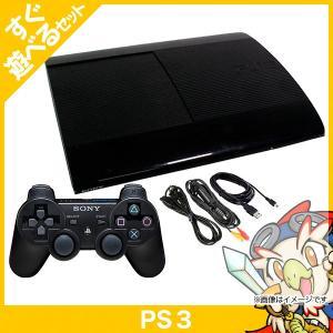 PS3 プレステ3 PlayStation 3 500GB チャコール・ブラック (CECH-4000C) SONY ゲーム機 中古 すぐ遊べるセット entameoukoku