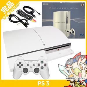 PS3 プレステ3 PLAYSTATION 3(40GB) セラミック・ホワイト SONY ゲーム機 中古 すぐ遊べるセット 完品 送料無料 entameoukoku