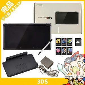 3DS ニンテンドー3DS 本体 完品 クリアブラック 中古...