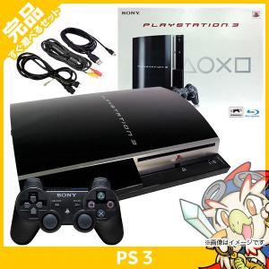 PS3 プレステ3 PLAYSTATION 3(80GB) クリアブラック SONY ゲーム機 中古 すぐ遊べるセット 完品 送料無料|entameoukoku