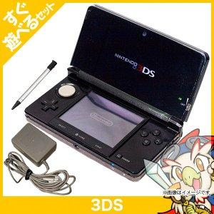 3DS コスモブラック(CTRSKAAA) 本体 すぐ遊べるセット 中古 entameoukoku