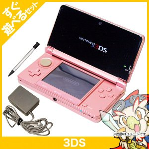 3DS ミスティピンクCTR-S-PAAA 本体 すぐ遊べるセット 中古 entameoukoku