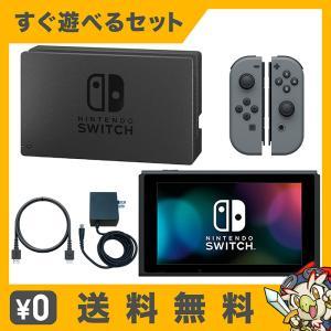 Switch Nintendo Switch Joy-Con (L) / (R) グレー 本体 すぐ遊べるセット Nintendo 任天堂 ニンテンドー 中古 送料無料|entameoukoku