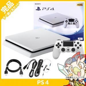 PS4 PlayStation 4 グレイシャー・ホワイト 1TB (CUH-2100BB02) 本体 完品 PlayStation4 SONY ソニー 中古 送料無料|entameoukoku