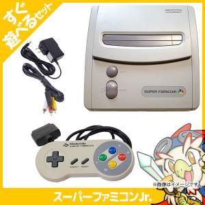 SFC スーファミ スーパーファミコン ジュニア 本体 すぐ遊べるセット 中古|entameoukoku