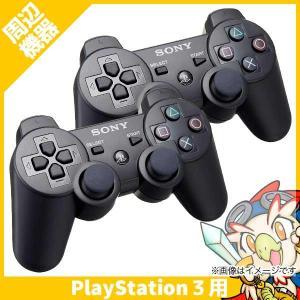 PS3 コントローラー 純正 ブラック 2個セット プレステ3 ワイヤレス デュアルショック3 黒 ...