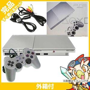 PS2 プレステ2 プレイステーション2 サテン・シルバー (SCPH-90000SS) 本体 完品 外箱付き PlayStation2 SONY ソニー 中古 送料無料|entameoukoku
