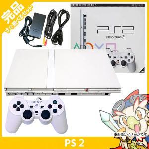 PS2 プレステ2 プレイステーション2 セラミック・ホワイト (SCPH-70000CW) 本体 完品 外箱付き PlayStation2 SONY ソニー 中古 送料無料|entameoukoku