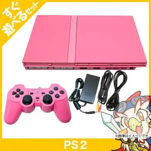PS2 プレステ2 プレイステーション2 ピンク (SCPH-77000PK) 本体 すぐ遊べるセット コントローラー付き PlayStation2 SONY ソニー 中古 送料無料|entameoukoku