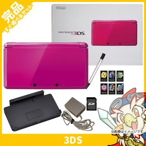 3DS 本体 中古 付属品完備 ニンテンドー3DS グロスピンク 完品  送料無料|entameoukoku