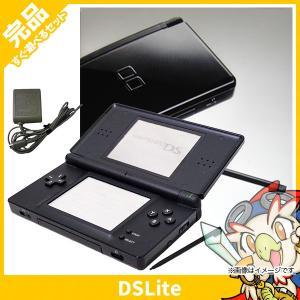 DSLite ニンテンドーDS Lite ジェットブラックUSG-S-KA 本体 完品 外箱付き Nintendo 任天堂 ニンテンドー 中古 送料無料|entameoukoku