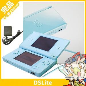 DSLite ニンテンドーDS Lite アイスブルーUSG-S-CBA 本体 完品 外箱付き Nintendo 任天堂 ニンテンドー 中古 送料無料|entameoukoku